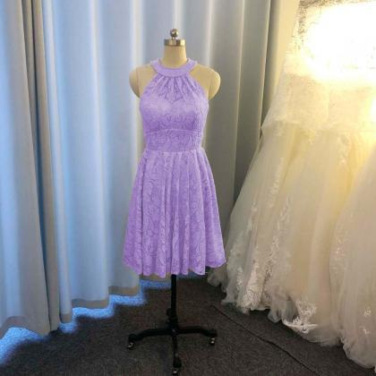 lavender bridesmaid dress, lace bri..