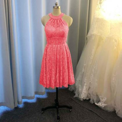 lace bridesmaid dresses, halter bri..