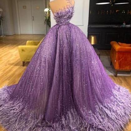purple prom dresses, sparkly prom d..