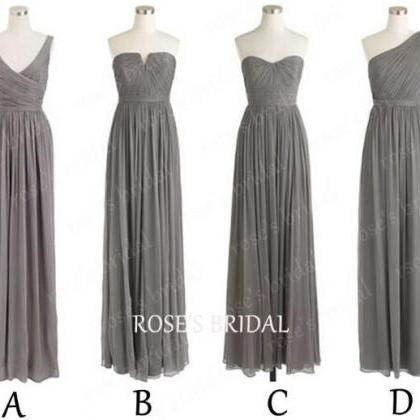 Gray Bridesmaid Dresses Mismatched ..