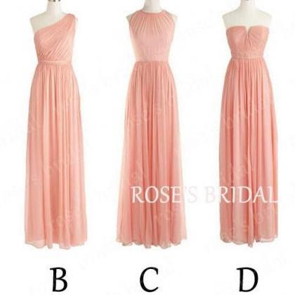 Blush Pink Chiffon Mix Up Styles Lo..