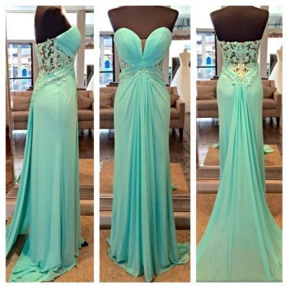 Light Blue Evening Dress, Chiffon E..