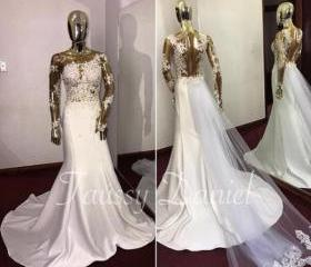 Mermaid Wedding Dres..