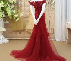 Red Evening Dress, L..
