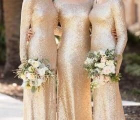 Gold Bridesmaid Dres..