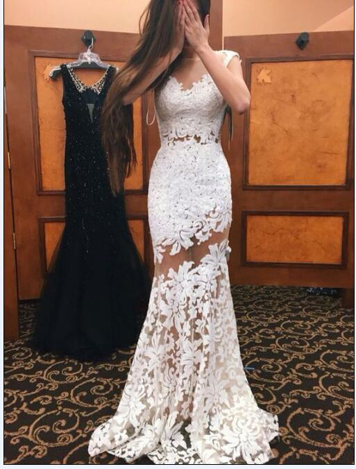 White Prom Dresses, Lace Prom Dresses, Mermaid Prom Dresses, 2017 Prom Dresses, Elegant Prom Dresses, New Arrival Prom Dresses, Sexy Prom Dresses, Arabic Prom Dresses, Cheap Prom Dresses, Vestidos de Fiesta 2017, New Arrival Evening Gowns, Cheap Evening Dresses, Lace Evening Dress, Sheer Prom Dresses, Transparent Prom Dresses, Evening Gowns For Sale, Sexy Formal Evening Dresses, Cheap Evening Gown