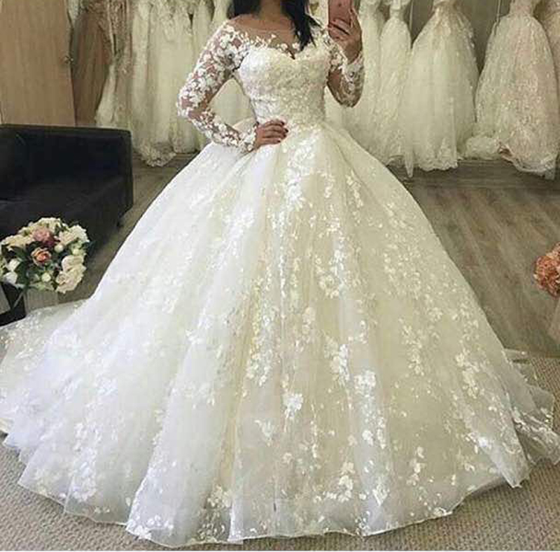 Ball Gown Wedding Dresses, Lace Wedding Dresses, Puffy Wedding Dress ...