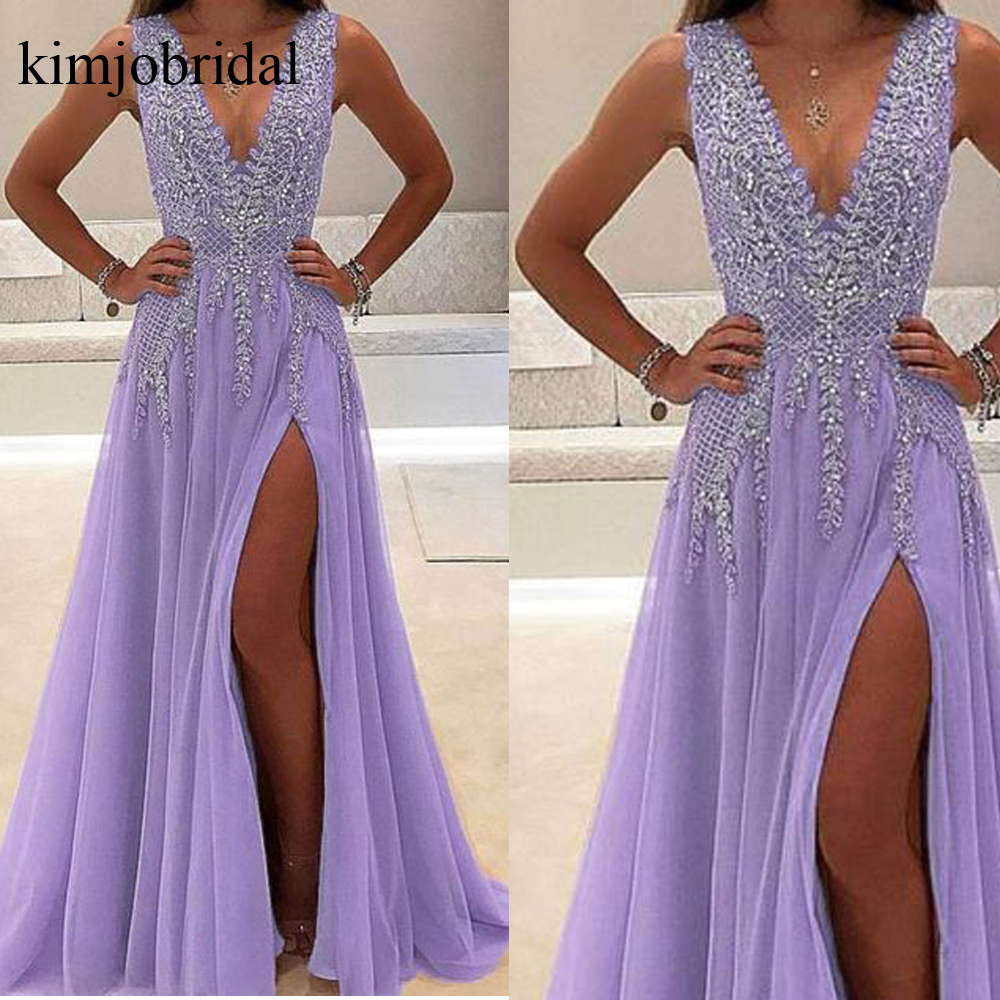 Crystal Prom Dresses, 2019 Prom Dresses, Beaded Prom Dresses, Crystal Evening Dresses , A Line Evening Dresses, Deep V Neck Formal Dresses, Tulle Evening Gowns, Arabic Formal Dresses, Bead Party Dresses