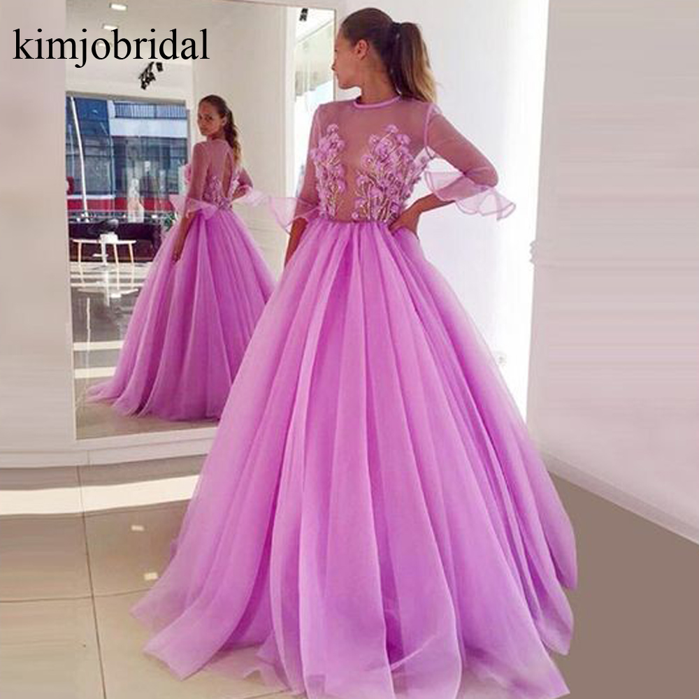 pink prom dresses, long sleeve prom dresses, long sleeve prom dresses, cheap evening dresses, tulle evening gowns, pink evening dresses,2019 prom dresses, lace evening dress, 2019 evening gowns