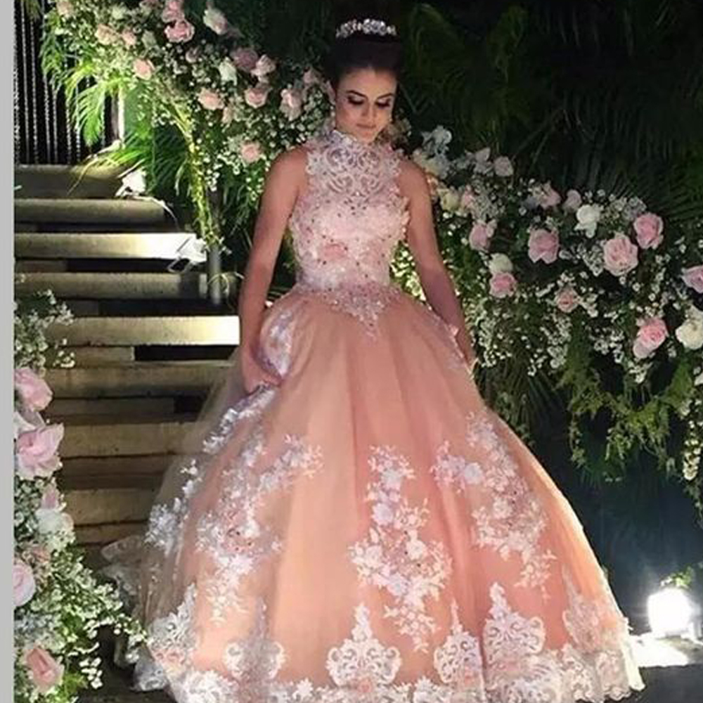 high neck prom dresses, champagne prom dresses, lace prom dresses, ball gown prom dresses, crystal prom dresses, vintage prom dresses, lace prom dresses, lace prom dresses, lace formal dresses, champagne evening gowns. 2020 prom dresses, beaded prom dresses, evening dress, formal dress, special occasion dresses