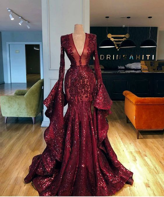 2020 prom dresses, long sleeve prom dresses, sequins evening dresses, lace prom dresses, mermaid evening dresses, burgundy prom dresses, beaded prom dresses, ruffle prom dresses, wine red prom dress, red evening dress, party dresses, 2020 prom dresses, cheap party dresses, lace formal dresses, sequins formal dress, cheap evening gowns