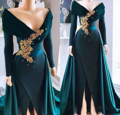 green prom dresses, 2021 prom dresses, detachable skirt prom dresses, lace prom dress, long sleeve prom dress, a line evening dresses, cheap party dresses, off the shoulder prom dress, cheap party dresses