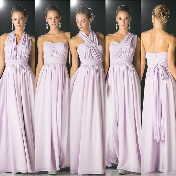 world-wide selection of hot product factory outlet Lavender Bridesmaid Dress, Convertible Bridesmaid Dress, Chiffon Bridesmaid  Dress, Wedding Guest Dress, Long Bridesmaid Dress, Cheap Bridesmaid ...
