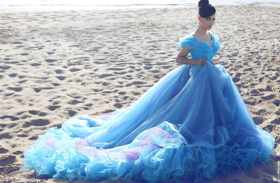 Cinderella Prom Dresses, Ball Gown Evening Dresses, Blue Evening ...