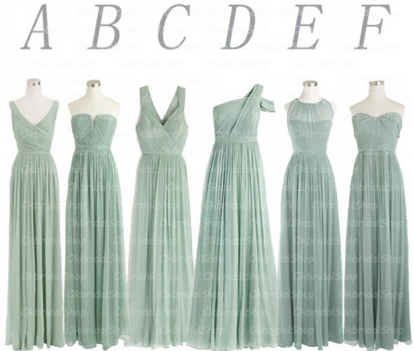 a few days away exclusive deals enjoy big discount Sage Green Bridesmaid Dresses, Mismatched Bridesmaid Dresses, Long  Bridesmaid Dresses, Chiffon Bridesmaid Dresses, Wedding Guest Dresses, A  Line ...