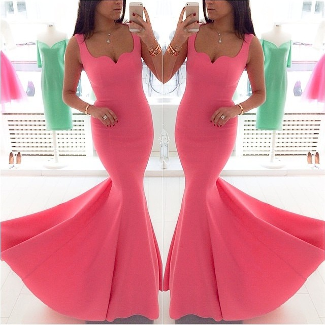 Coral Evening Dress, Mermaid Evening Dress, Long Evening Dress, Off Shoulder Evening Dress, Cheap Evening Dress, Satin Evening Dress, Formal Party Dresses, 2017 Formal Dresses, Evening Dresses 2017, Simple Evening Dress, Custom Make Evening Dress