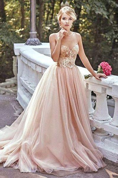 Sexy Champagne Prom Dresses, 2017 Sweetheart Prom Dresses, Luxury Tulle Evening Dresses, Crystal Evening Gowns. Beaded Prom Dress, Long Sweetheart Neckline Formal Dresses, Backless Women Party Dresses, Arabic Vestidos de Fiesta, 2017 Evening Dresses For Party