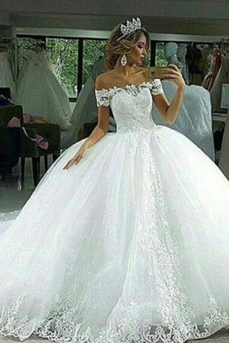 Ball Gown Wedding Dresses, Lace Wedding Dresses, Arabic Wedding Dresses, Tulle Wedding Dresses, New Arrival Wedding Dresses, Off the Shoulder Bridal Dresses, Tulle Wedding Dresses, White Wedding Dresses, Sexy Wedding Dress, Cheap Wedding Dress, Arabic Wedding Dress, Fashion Wedding Dresses, New Arrival Bridal Dresses, 2017 Wedding Dresses