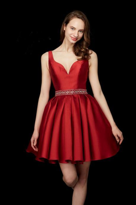 Red Homecoming Dresses, Crystal Homecoming Dresses, Sweetheart Homecoming Dresses, A Line Homecoming Dresses, Satin Homecoming Dresses, Short Cocktail Dresses, Crystal Back Cocktail Dresses, A Line Prom Dresses, Satin Homecoming Dresses, Fashion Evening Dresses, Sexy Formal Dresses, 2017 Prom Dresses