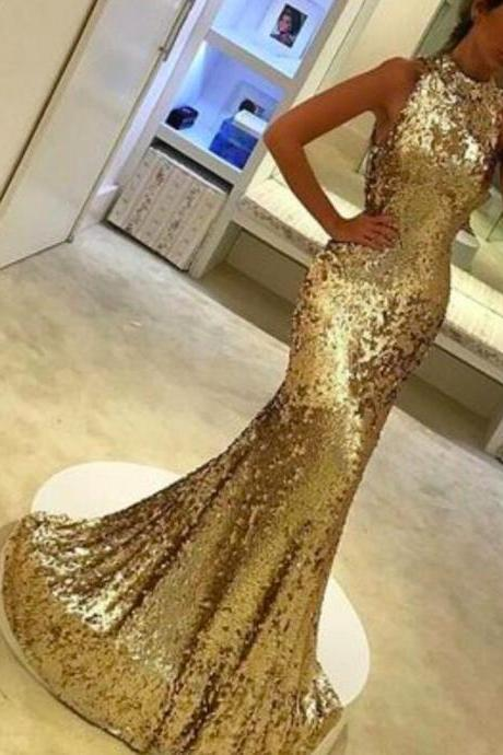 christmas prom dresses, gold sequins prom dress, mermaid prom dress, high neck prom dress, bling bling prom dress, sparkly prom dresses, cheap evening dress, 2017 evening gowns, bling bling evening dress, gold evening gowns, sexy party dresses