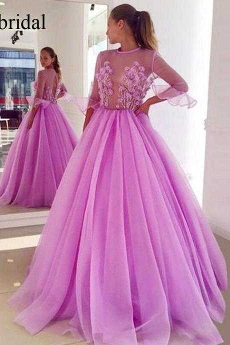 lace prom dresses, flowers evening dresses, arabc evening gowns, robe de soiree, 2019 evening dresses, lace formal dresses, lace evening dresses, flowers evening gowns, cheap party dresses, arabic evening gowns, pink evening dresses