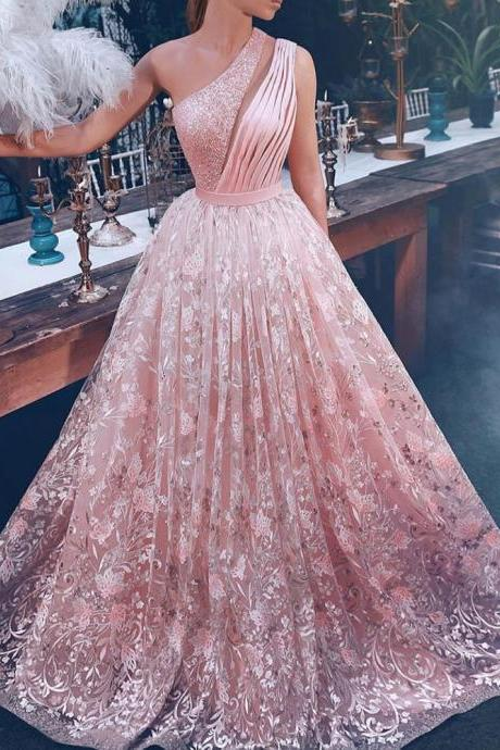 pink prom dresses 2019 beaded keyhole pleats lace evening dresses lace party dresses arabic