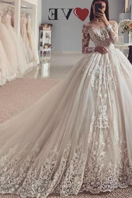 lace wedding dresses, ball gown wedding dresses, cheap bridal dresses, lace wedding dresses, custom make wedding dresses, 2020 wedding dresses, fashion bridal dresses, puffy bridal dress