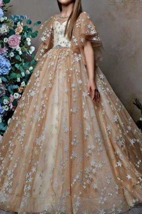 flower girls dresses, champagne girls dresses, kids pageant dresses, flower girl dresses for weddings, vestidos de primera comunion 2019, primera comunion, champagne communion dresses