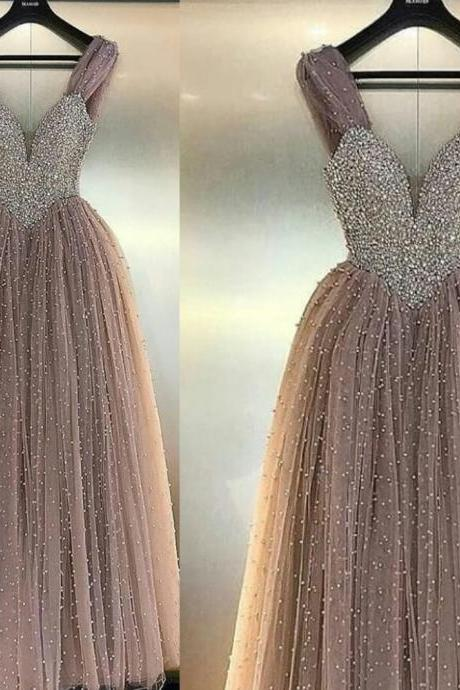 pearls prom dresses, 2020 prom dresses, tulle prom dresses, a line prom dresses, sexy prom dresses, tulle evening dresses, sweetheart evening gowns, pearls evening dresses