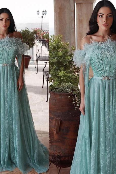 green prom dresses, feather prom dresses, off the shoulder prom dresses, sashes prom dresses, long sleeve prom dresses, a line prom dresses, arabic prom dresses, feather prom dresses, lace prom dresses, 2020 evening dresses