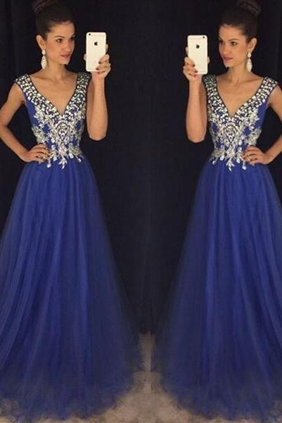 crystal prom dresses, royal blue prom dresses, beaded prom dresses, tulle prom dresses, crystal evening dresses, 2020 evening dresses, elegant evening dresses, tulle prom dresses, royal blue evening dresses, sexy evening dresses , formal dresses, 2020 party dresses, elegant special occasion dresses