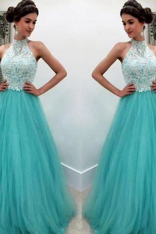 lace prom dresses, 2020 prom dresses, halter prom dress, lace evening dresses, tulle prom dresses, tulle prom dresses, a line prom dresses, blue evening dresses, vestidos largos de fiesta, 2020 платья на выпускной, gala jurken, halter evening dresses, 2020 formal dresses, lace party dresses