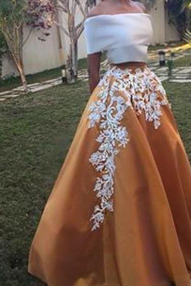 two pieces prom dresses, lace prom dreses, champagne prom dresses, lace evening dresses, arabic prom dresses, two pieces evening dresses, fashion evening gowns, 2020 party dresses, new arrival evening gowns