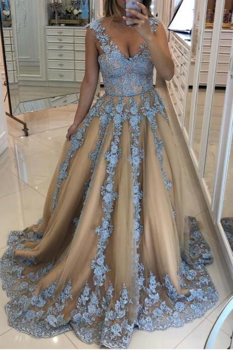 lace prom dresses, 2020 prom dresses, champagne prom dresses, flowers prom dresses, champagne evening dresses, ball gown prom dresses, sequins prom dresses, flowers evening dresses, 2020 evening dresses, dress party, prom dresses 2019, abendkleider