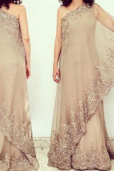 mother of bridal dresses, one shoulder prom dresses, mother dresses, lace appliques prom dresses, lace prom dresses, chiffon prom dresses, beaded prom dresses, evening dresses, a line evening dresses, mermaid party dresses, new arrival evening gowns