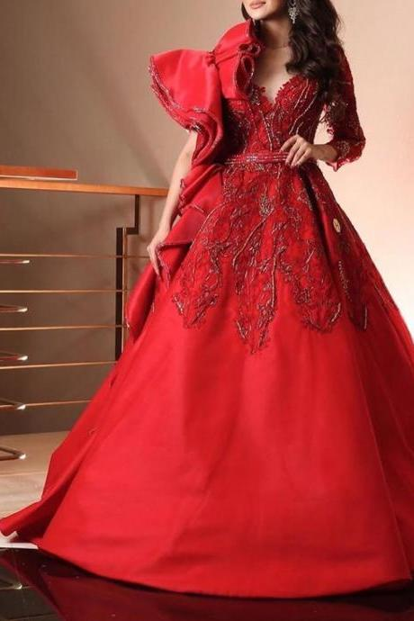 red prom dresses, ruffle prom dresses, beaded prom dresses, lace prom dresses, sweetheart prom dresses, formal dresses, evening gowns, 2020 party dresses, arabic special occasion dresses, cheap evening dresses, lace party dresses, 2020 dresses, arabic evening gowns, new arrival prom dresses
