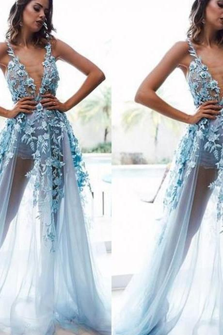 blue prom dresses, sexy prom dresses, lace prom dresses, evening dresses, 2020 prom dresses, evening dresses, blue evening dresses, lace formal dresses, 2020 evening dresses, sheer prom dresses, a line party dresses, inexpensive prom dresses, sexy formal dresses, arabic evening dresses