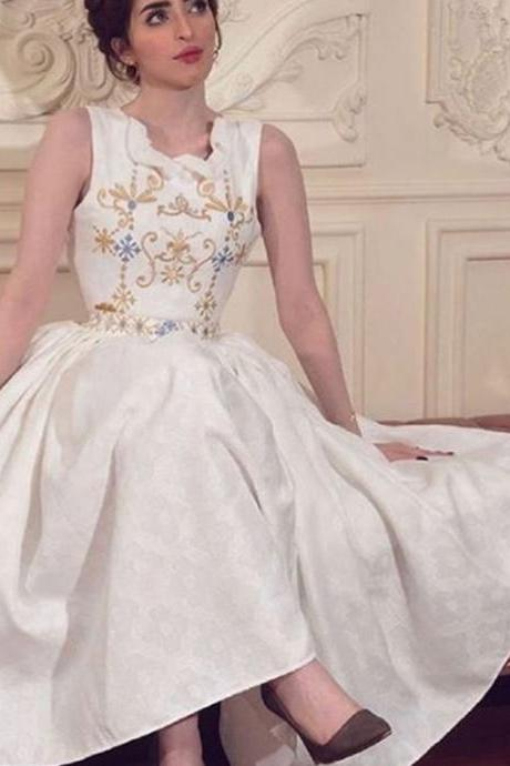 embroidery prom dresses, lace evening dresses, a line prom dresses, satin evening dresses, arabic prom dresses, 2020 prom dresses, embroidery evening dress, white prom dresses, sexy prom dresses, sleeveless prom dresses, cheap prom dresses, a line evening gowns