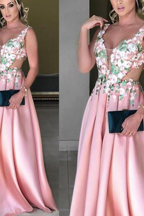 lace prom dresses, pink prom dresses, lace evening dresses, formal dresses, arabic prom dresses, evening dresses, lace formal dresses, 2020 prom dresses, arabic prom dress, sheer prom dresses, flowers evening dress, satin evening dress, backless prom dresses, pink evening gowns, a line prom dresses
