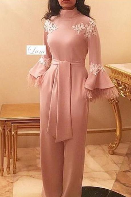 pink prom dresses, high neck prom dresses, long sleeve prom dresses, arabic prom dresses, long sleeve evening dresses, fashion prom dresses, feather prom dresses, panty prom dresses, jumpsuit prom dresses, formal dresses, evening dress, flowers prom dresses, lace evening gowns, long party dresses