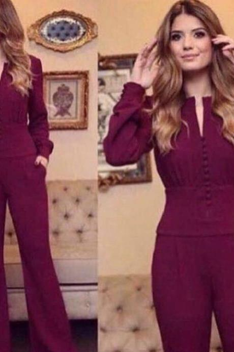 jumpsuit prom dresses, wine red prom dresses, panty prom dresses, pleats prom dresses, panty evening dresses, jumpsuit evening gowns, long sleeve prom dresses, 2020 prom dresses, evening dresses, formal dresses, evening dresses, 2020 evening gowns, formal dress, new arrival prom dresses, new arrival evening gowns, custom make prom dress, 2020 evening dress