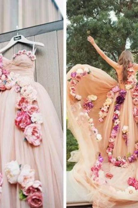 flowers prom dresses, pink prom dresses, hand made flowers prom dresses, 3d flowers prom dresses, pink evening dresses, pleats prom dresses, pink prom dress, arabic evening dresses, 2020 evening dresses, flowers evening dresses, 3d flowers evening dress, party dresses, 2020 evening gowns