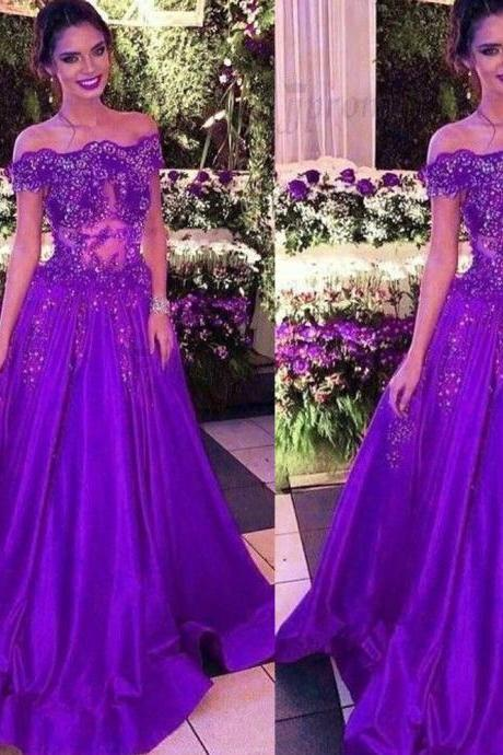 purple prom dresses, off the shoulder prom dress, lace prom dress, beaded prom dresses, crystal prom dresses, sheer prom dresses, lace evening dresses, arabic prom dresses, custom make prom dresses, 2020 formal dresses, cheap evening gowns, lace formal dresses