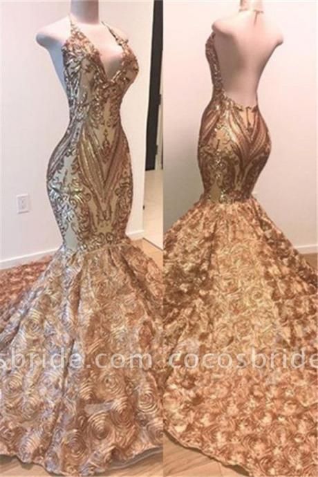champagne prom dresses, deep v neck prom dresses, lace prom dresses, flowers prom dresses, arabic prom dresses, court train prom dresses, champagne evening dresses, mermaid formal dresses, 2020 evening dresses, lace evening dresses, flowers prom dress, gold evening gowns, 2020 party dresses, arabic evening gowns, mermaid formal dresses