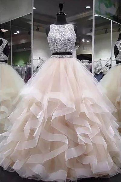two pieces prom dresses, beaded prom dresses, sequins prom dresses, crystal prom dresses, evening dresses, party dresses, arabic prom dresses, 2020 prom dresses, arabic prom dress, cheap party dresses, 2020 evening gowns, two pieces prom dresses, ruffle prom dress, cheap party dress, vestidos de fiesta