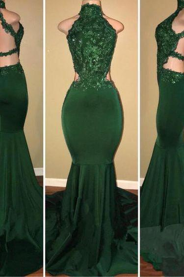 green prom dresses, 2020 prom dresses, backless prom dresses, lace prom dresses, mermaid evening drsses, arabic prom dresses, green prom dresses, backless evening dress, beaded evening dresses, cheap evening dress, 2020 evening dresses, formal dresses