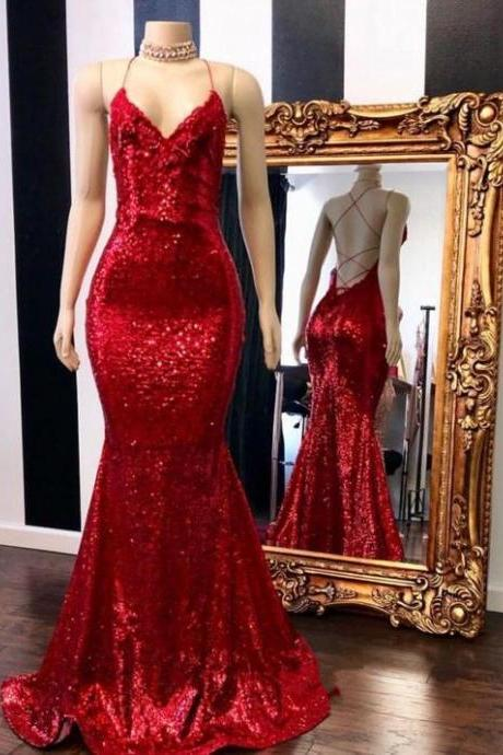 sexy prom dress, red prom dresses, mermaid evening dresses, 2020 evening dress, lace evening dresses, arabic prom dresses, backless prom dress, sequins prom dresses, sexy evening dresses, 2020 formal dresses, cheap party dresses, sparkly evening gowns, sexy party dress, new arrival dresses