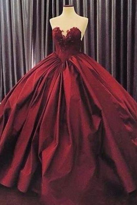 ball gown prom dresses, 2020 prom dresses, sweetheart prom dresses, lace evening dresses, ball gown prom dresses, arabic prom dresses, lace prom dresses, arabic prom dress, satin evening dresses, 2020 evening dress, burgundy prom dress, formal dresses, satin evening gowns, lace formal dress, ball gown party dresses, puffy evening dress