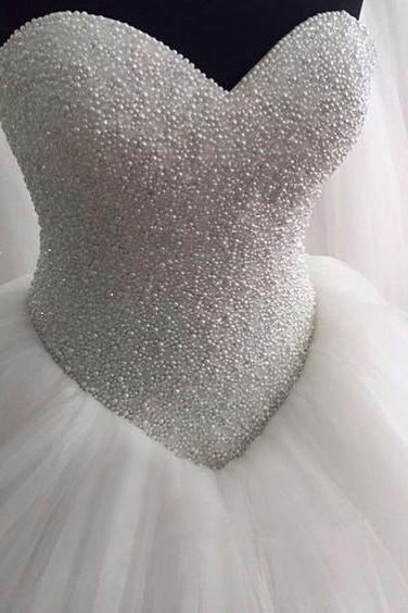 pearls wedding dresses, sweetheart wedding dresses, pearls wedding dresses, tulle wedding dresses, arabic wedding dresses, puffy wedding dresses, vestidos de noiva, wedding gowns, bridal dress, 2020 wedding dress, vintage wedding dresses