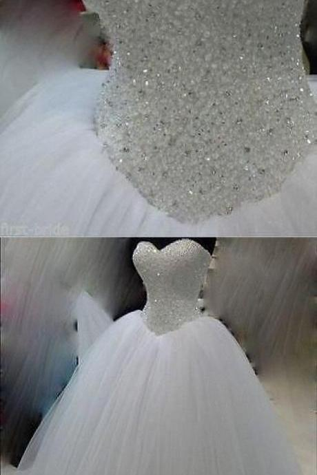sweetheart wedding dresses, crysal wedding drsses, ball gown wedding dresses, sexy wedding dress, 2020 wedding dresses, puffy wedding dreses, arabic wedding dresses, lace wedding dresses, new arrival wedding dress, beaded wedding dresses